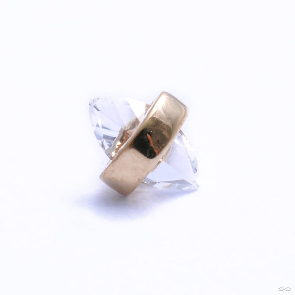 Crystalized Mini Press-fit End in Gold from Pupil Hall with white topaz