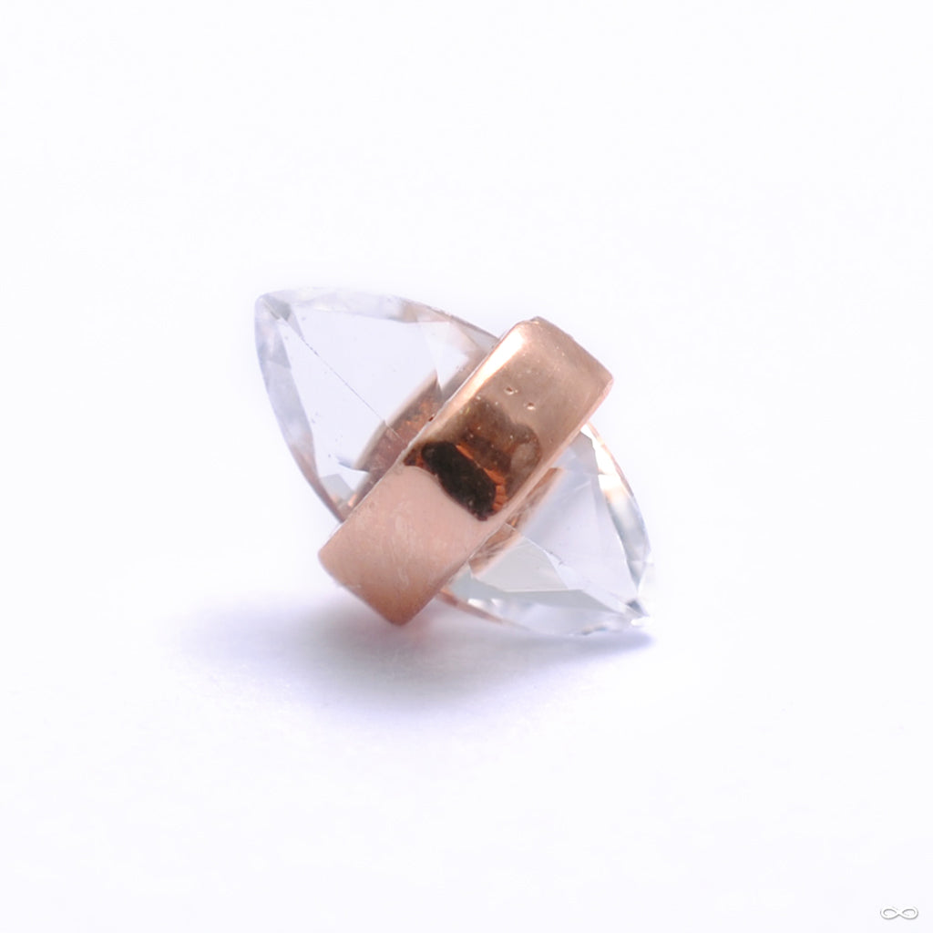 Crystalized Press-fit End in Gold from Pupil Hall in rose gold