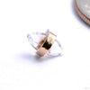 Crystalized Press-fit End in Gold from Pupil Hall with white topaz