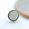 Bezel-set Cabochon Press-fit End in Gold from BVLA with white opal