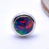 Bezel-set Cabochon Press-fit End in Gold from BVLA with black opal
