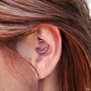 Daith piercing with Captive Bead Ring from SM 316