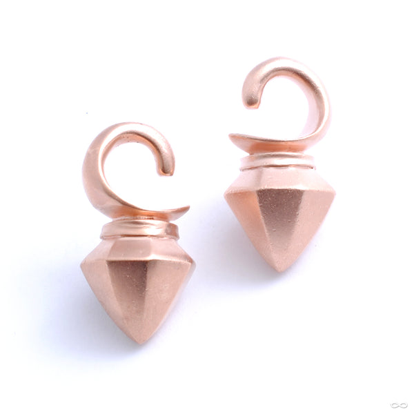 Dayak Weights from Tawapa in rose gold with satin finish