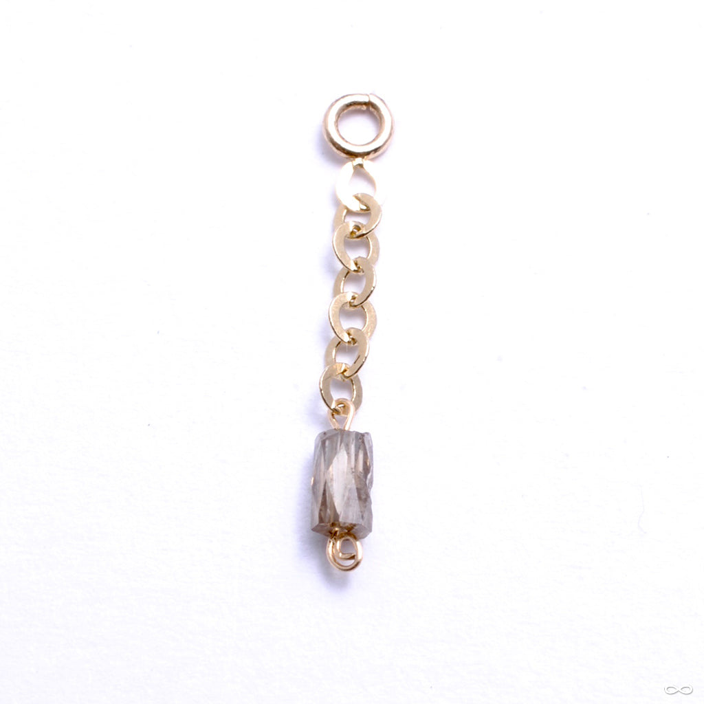 Diamond Cylinder Charm in Gold from Pupil Hall in yellow gold