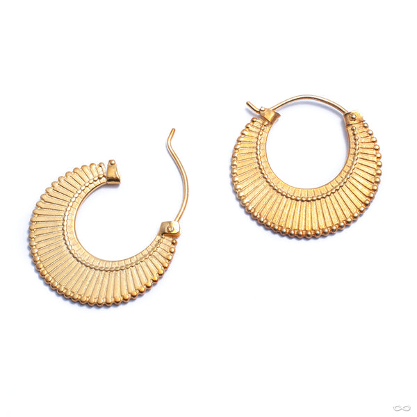 Dissent Earring from Maya Jewelry in yellow-gold-plated brass