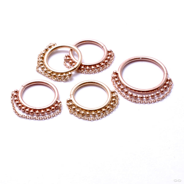 Double Chain Seam Ring in Gold from Pupil Hall in assorted materials