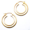 Double Duchess Earrings from Maya Jewelry in yellow gold