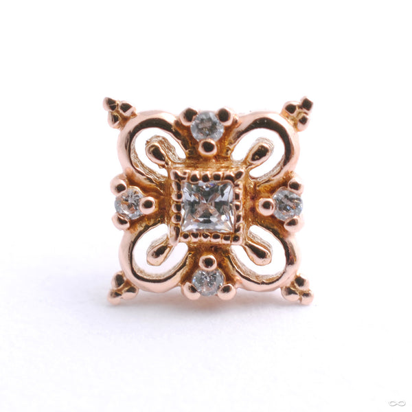Esmee Press-fit End in Gold from Buddha Jewelry with Clear CZ