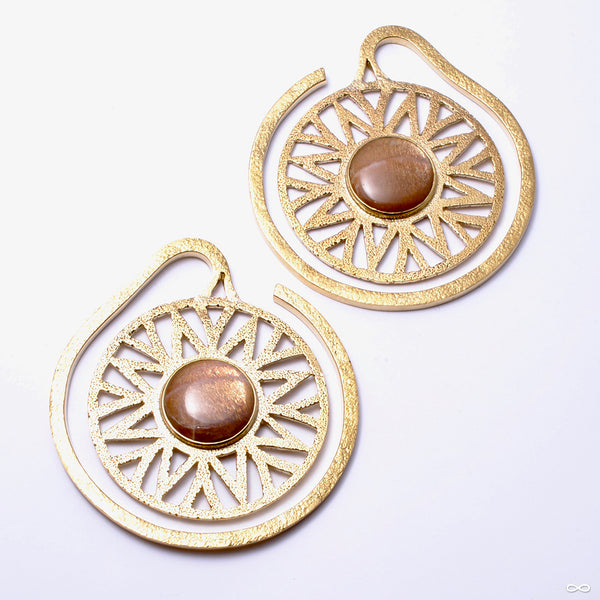 Essence Puj Ju Hoops with Sunstone from Diablo Organics