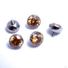 Extreme Low Profile Gem Ball Threaded End in Titanium from Industrial Strength with amber
