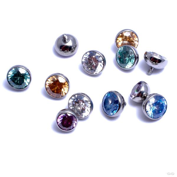 Extreme Low Profile Gem Ball Threaded End in Titanium from Industrial Strength in assorted materials