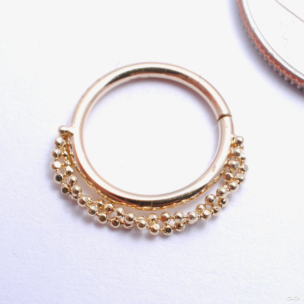 Garland Seam Ring in Gold from Pupil Hall in yellow gold