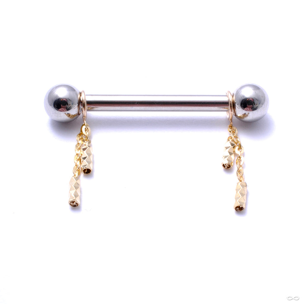 Geo Nipple Charm in Gold from Pupil Hall in yellow gold