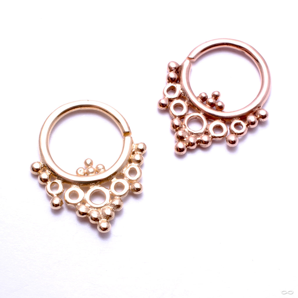 Goldendaze Seam Ring in Gold from Buddha Jewelry in rose gold