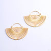 Helios Earrings from Tether Jewelry in yellow gold