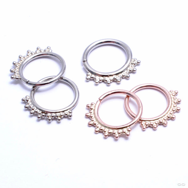 Jenna Seam Ring in Gold from Scylla in assorted materials