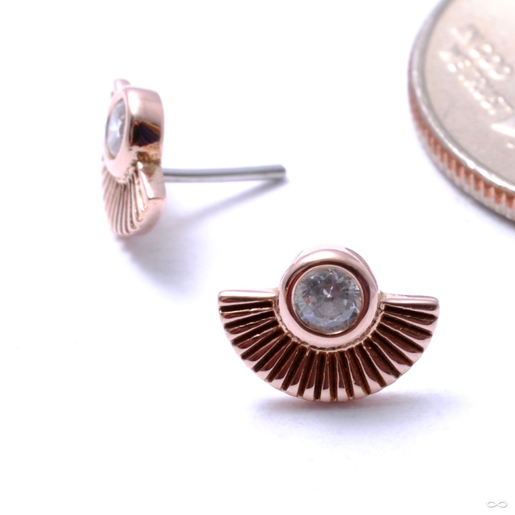 Kahlo Press-fit End in Gold from Buddha Jewelry in rose gold