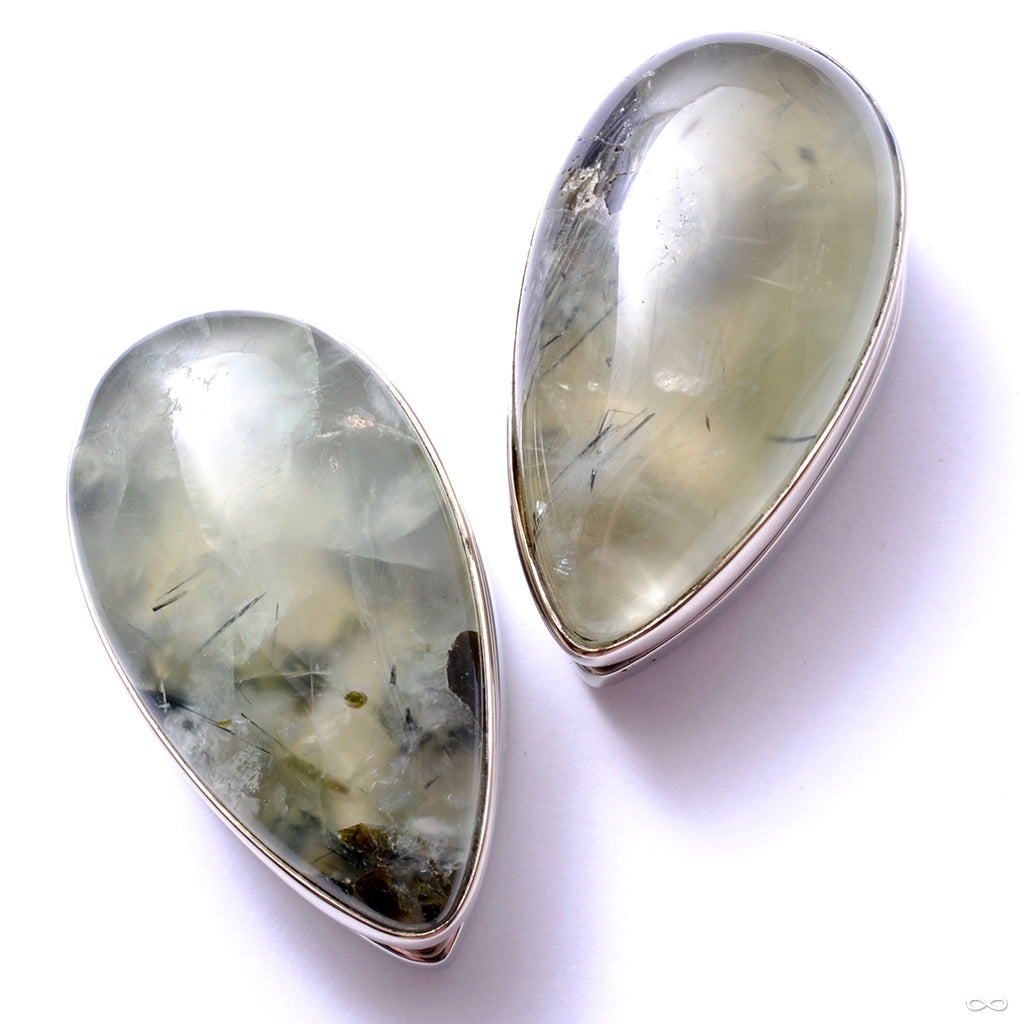 Large Stone Spade Weights from Diablo Organics with prehnite