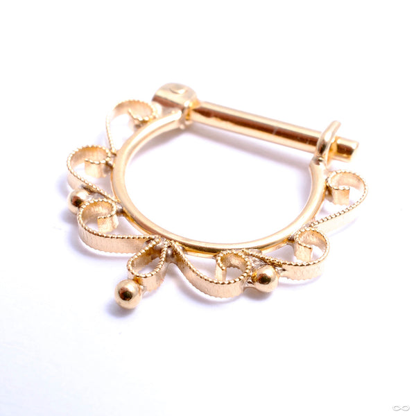 Lila Hinged Ring in Gold from Quetzalli in yellow gold