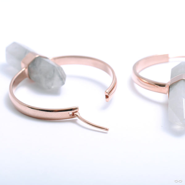 Mini Alchemy Earrings in Rose Gold with Smoky Quartz from Buddha Jewelry