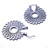 Mini Dahlia Earrings from Tawapa in Gun Metal