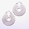 Mini Dahlia Earrings from Tawapa in Silver-plated White Brass