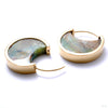 Mini Muse Earrings with Opalized Petrified Wood from Buddha Jewelry in yellow gold