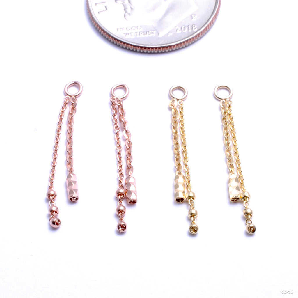 Mixed Bag Charm in Gold from Pupil Hall in rose gold