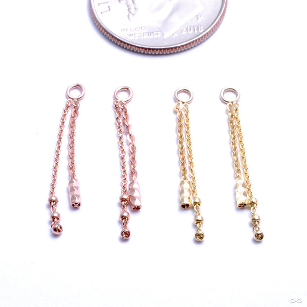 Mixed Bag Charm in Gold from Pupil Hall in assorted materials
