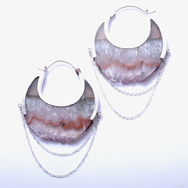 Moonstruck Earrings in Silver with Fluorite from Buddha Jewelry