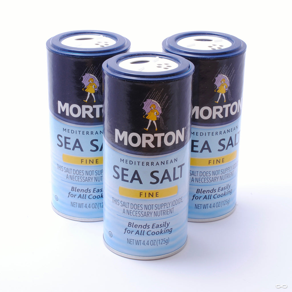 Morton Fine Grind Mediterranean Sea Salt, 4.4 oz. container