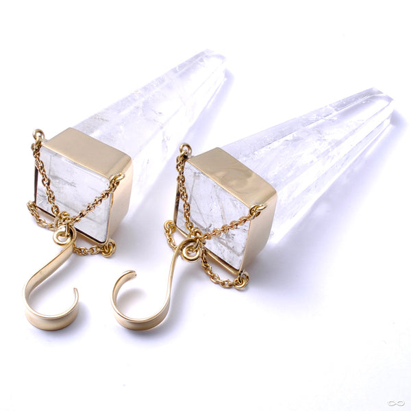 Narrative in Brass with Clear Quartz from Buddha Jewelry