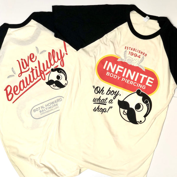 """Natty Boh"" Short-Sleeve Raglan T-shirt"