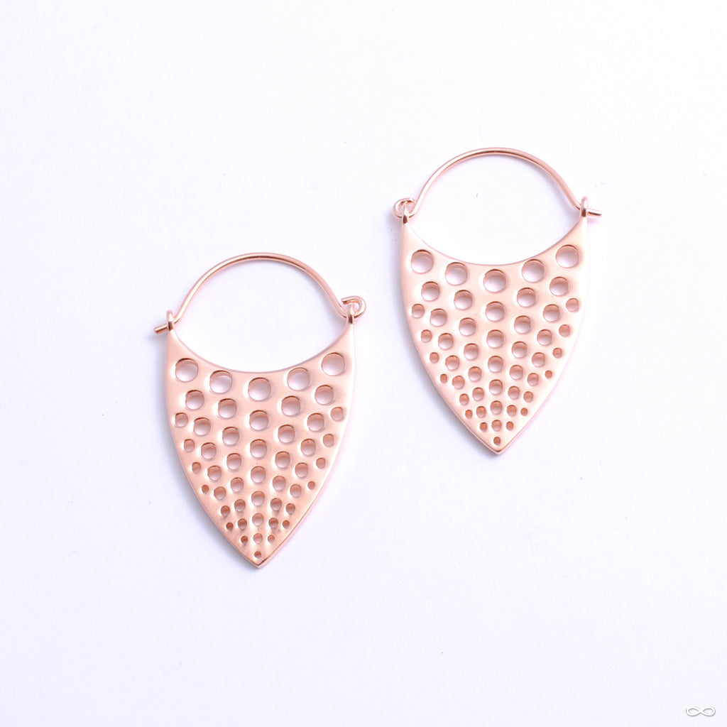 Nirvana Earrings from Tether Jewelry in rose gold
