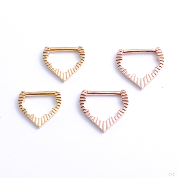 Nova Hinged Ring from Tether Jewelry in assorted materials