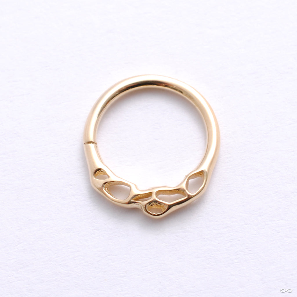 Otherworldly Seam Ring in Gold from Pupil Hall in yellow gold