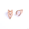 Pointed Chevron Cuffs from Tawapa in rose gold