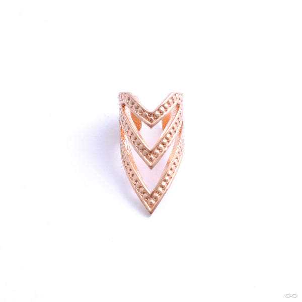 Pointed Chevron Cuff from Tawapa in rose gold