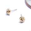 Polka With Stone Dottie Press-fit End in Gold from Pupil Hall in yellow gold
