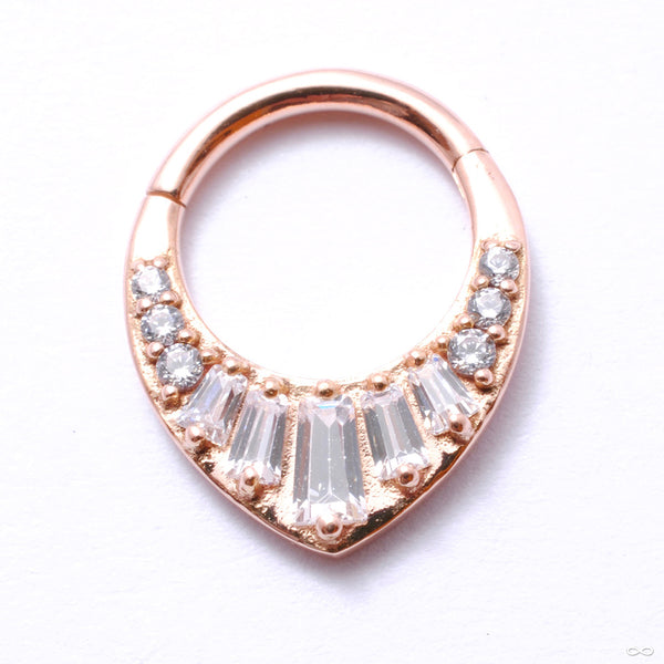 Prism Clicker in Gold from Buddha Jewelry in rose gold