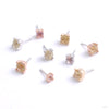 Prong-set Gemstone Press-fit End in Gold from Buddha Jewelry in assorted materials