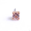 Prong-set Gemstone Press-fit End in Gold from Buddha Jewelry with morganite