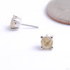 Prong-set Gemstone Press-fit End in Gold from Buddha Jewelry with rutilated quartz
