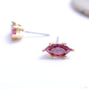 Prong-set Marquise Press-fit End in Gold from Anatometal with red CZ