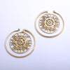 Puj Ju Circles from Diablo Organics in brass, small