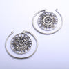 Puj Ju Circles from Diablo Organics in white brass, small