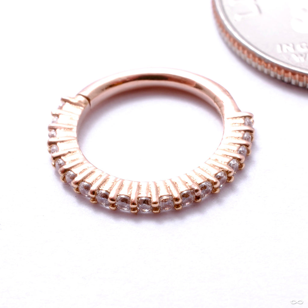 Radiant Clicker in Gold from Buddha Jewelry in rose gold