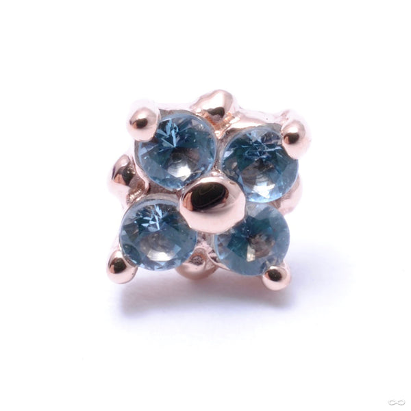 Reema Press-fit End in Gold from BVLA with Swiss Blue Topaz