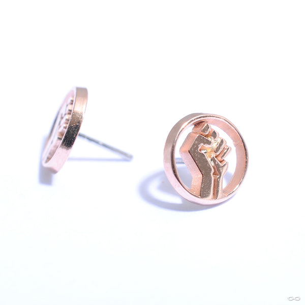 Resist Press-fit End in Gold from Quetzalli in rose gold