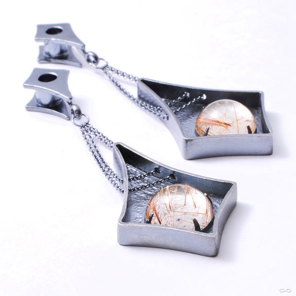 Rutilated Quartz Chained Weights from Phoenix Revival Jewelry